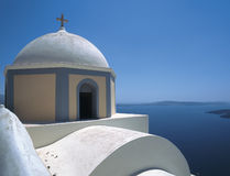 Santorini. Chappel, Santorini island, Cyclades, Greece royalty free stock photo