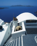 Santorini. Architecture on santorini island, cyclades, greece royalty free stock photo