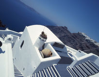 Santorini. Architecture on santorini island, greece stock photos