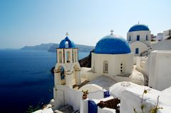 Santorini 5. Oya city in Santorini, on the Greek Islands Royalty Free Stock Photo