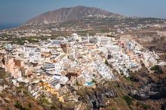 santorini острова холма Греции зданий Стоковое Фото
