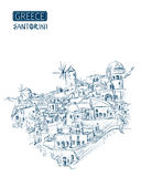 Santorini stock illustratie