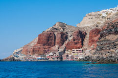Santorini by Royaltyfria Bilder