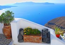 Остров Santorini, Греции Стоковое фото RF