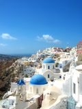 Santorini. White houses Stock Images