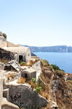 Santorini Abandoned homes in Oia Royalty Free Stock Image