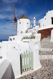 Santorini - ailse en windmolen in Oia Royalty-vrije Stock Fotografie