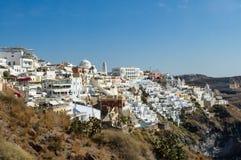 Santorini al mediodía Fotos de archivo libres de regalías