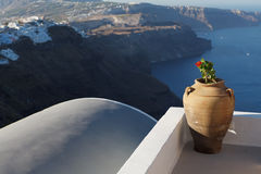 Santorini Amphora Stock Photos