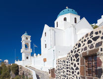 Santorini - Anastasi church in Imerovigli. Stock Image