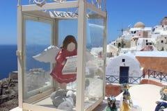 Santorini anioł Obraz Royalty Free