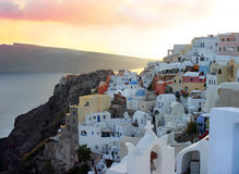 Santorini Ansicht stockbilder