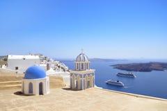 Santorini-Ansicht Stockfotos