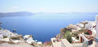 Santorini-Ansicht vom Hügel Stockbilder