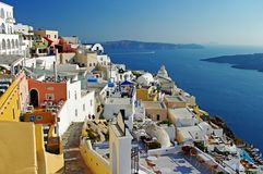 Santorini antes do por do sol Foto de Stock Royalty Free