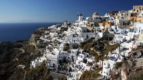 Santorini architecture Stock Images