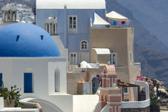 Santorini architecture. The traditional architecture in Santorini, Greece Royalty Free Stock Photo