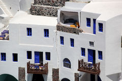 Santorini architecture in Greece Royalty Free Stock Photos
