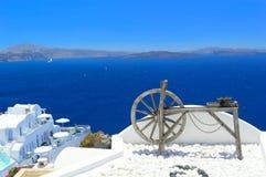 Santorini architektura, Oia Fotografia Royalty Free