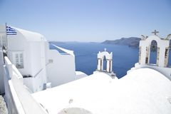 Santorini architektura obrazy stock