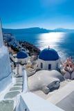 Santorini Atenas Grécia de Oia Imagem de Stock Royalty Free