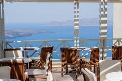 Santorini-Aufenthaltsraum-Kessel Griechenland stockfotos