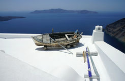 Santorini ausführlich Stockfoto
