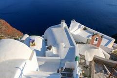 santorini błękitny biel Zdjęcie Royalty Free