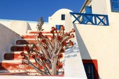 santorini błękitny biel Zdjęcie Stock