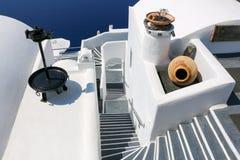 santorini błękitny biel Obraz Royalty Free