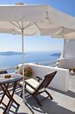 Santorini balcony Stock Image