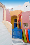 Santorini beautiful buildings Stock Images
