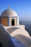 Santorini: Beautiful church cupola at Thira Royalty Free Stock Photos