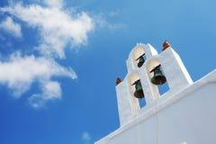 Santorini Bell tower, Greece. royalty free stock photo