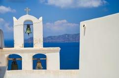 Santorini - bello posto per un rilassamento Fotografia Stock Libera da Diritti