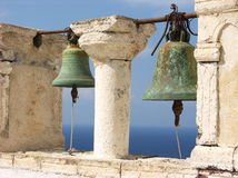 Santorini Bells Stock Photography