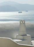 Santorini bianco Fotografia Stock Libera da Diritti
