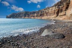 Santorini - The Black beach royalty free stock photo