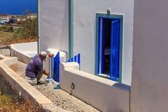 Santorini-Blau Lizenzfreie Stockfotos