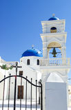 Santorini Blue Dome Royalty Free Stock Image