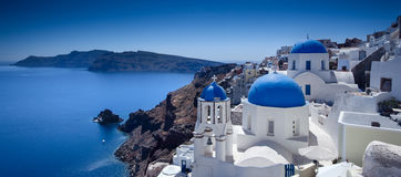 Santorini Blue Royalty Free Stock Images