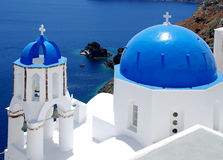 Santorini in blue and white Royalty Free Stock Images