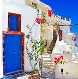 Santorini Branco-azul Imagem de Stock Royalty Free