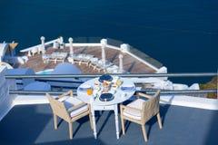 Santorini breakfast Stock Photo