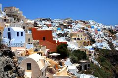 Santorini Buildings Royalty Free Stock Photos