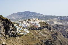 Santorini, buildings on Caldera Royalty Free Stock Photos