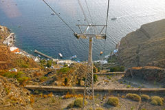 Santorini Cable Car, Santorini. GREECE. Stock Photography