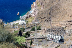 Santorini cable car Royalty Free Stock Photography