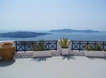 Santorini, caldeira, Oia, Grecja Obrazy Royalty Free
