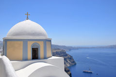 Santorini caldera Stock Photo